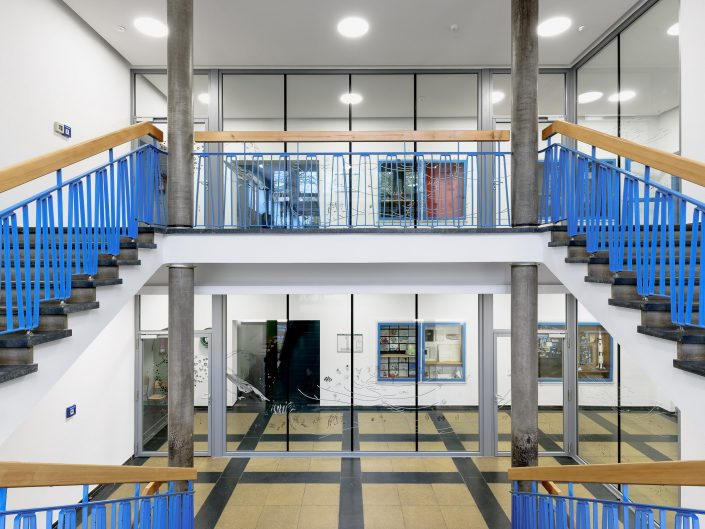 Staircase Ludwig-Richter-Schule, Frankfurt, Ian Shaw Architects